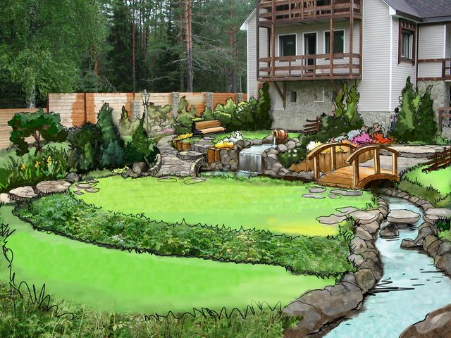 Дизайн маленького садового участка 16